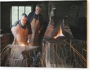 Blacksmith Wood Print by Stephen Norris