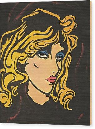 Blondie Wood Print by Sheridan Furrer