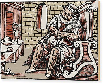 Bloodletting For Weight Reduction Wood Print by Science Source
