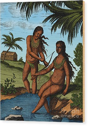 Bloodletting Native Central American Wood Print by Science Source