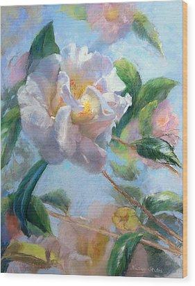 Blooming Flowers Wood Print by Nancy Stutes