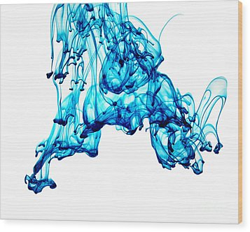 Blue Descent Wood Print