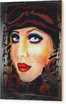 Blue Eyes Wood Print by Natalie Holland