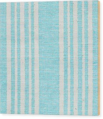 Blue Fabric Wood Print