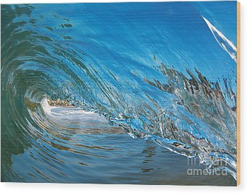 Wood Print featuring the photograph Blue Glass by Paul Topp
