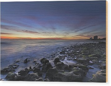 Blue Lagoon Wood Print by Debra and Dave Vanderlaan