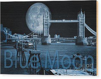 Blue Moon Wood Print by Donald Davis