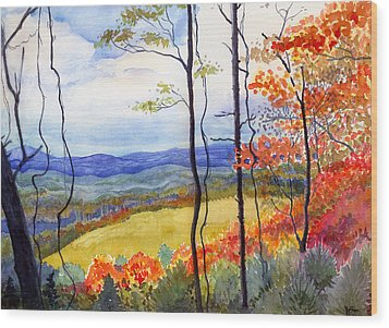 Blue Ridge Mountains Of West Virginia Wood Print by Katherine Miller