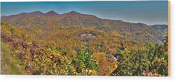 Wood Print featuring the photograph Blue Ridge Parkway by Alex Grichenko