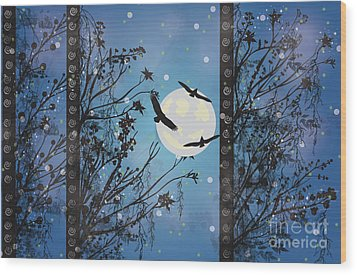 Blue Winter Wood Print by Kim Prowse