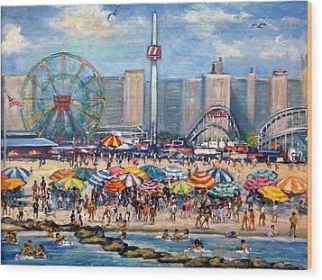 Boardwalk New Jersey Wood Print