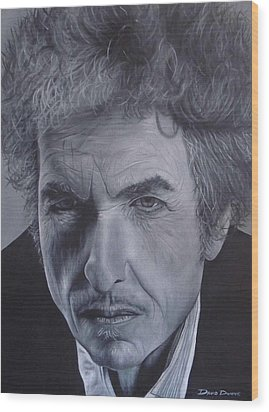 Wood Print featuring the painting Bob Dylan IIi by David Dunne