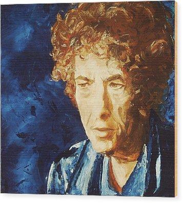 Bob Dylan Wood Print by Willem Arendsz