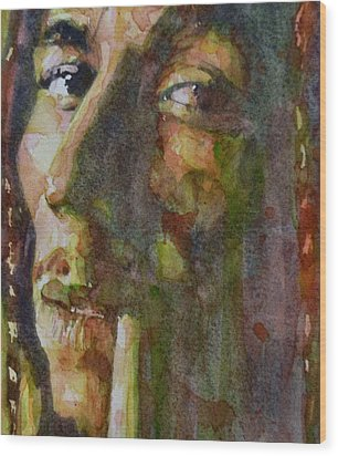 Bob Marley Wood Print by Paul Lovering
