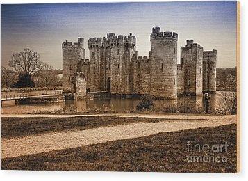 Bodiam Castle Wood Print by Donald Davis