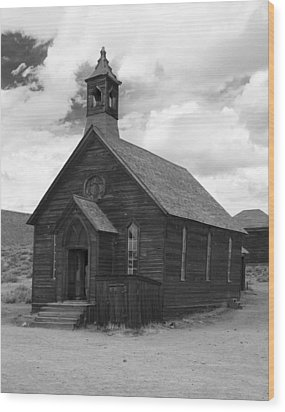 Wood Print featuring the photograph Bodie Church by Jim Snyder