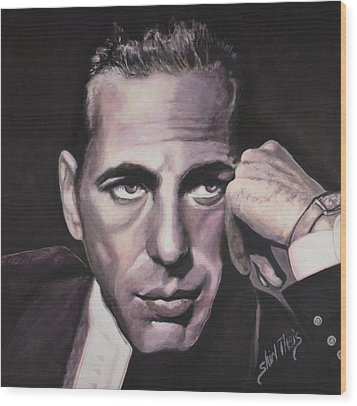 Bogie Wood Print by Shirl Theis