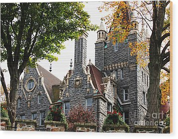 Boldt Castle Wood Print by Tony Cooper