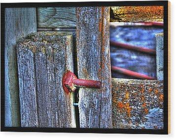 Bolt Wood Print by Michaela Preston