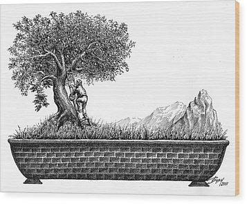 Bonsai Wood Print by Boyan Donev