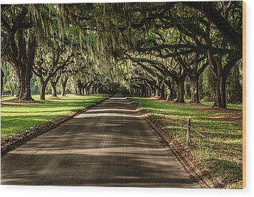 Wood Print featuring the photograph Boone Plantation Road by John Johnson