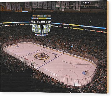 Boston Bruins Wood Print by Juergen Roth