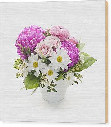 Bouquet Of Flowers Wood Print by Elena Elisseeva