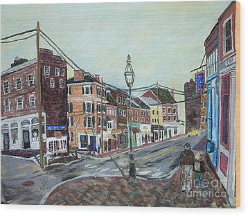 Bow Street As You Were Wood Print