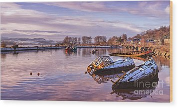 Bowling Harbour Panorama 02 Wood Print