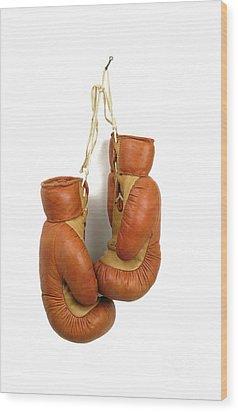 Boxing Gloves Wood Print by Bernard Jaubert