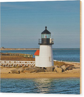 Brant Point Lighthouse Nantucket Wood Print
