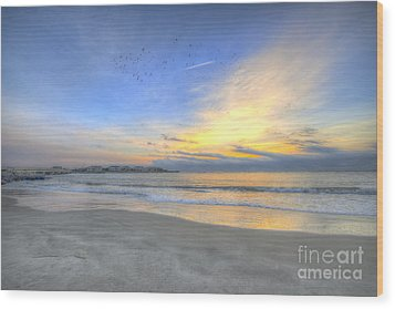 Breach Inlet Sunrise Wood Print
