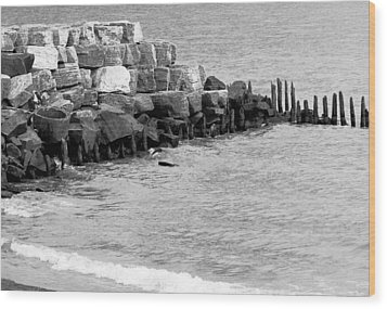 Wood Print featuring the photograph Breakwater by Ricky L Jones