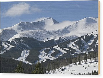 Breckenridge Resort Colorado Wood Print by Brendan Reals