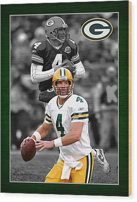 Brett Favre Packers Wood Print by Joe Hamilton
