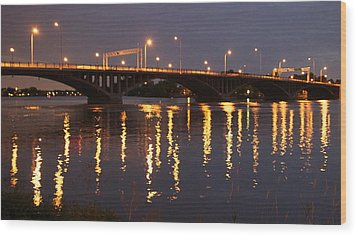 Bridge Over Water Wood Print by Jocelyne Choquette