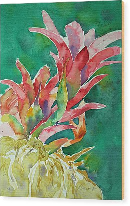 Bromeliad Wood Print by Roger Parent