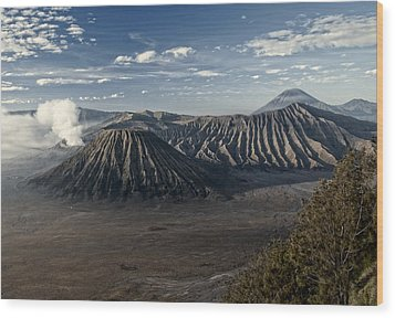 Bromo Mountain Wood Print