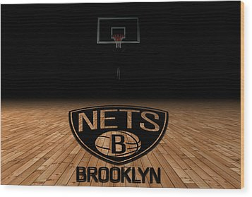 Brooklyn Nets Wood Print by Joe Hamilton