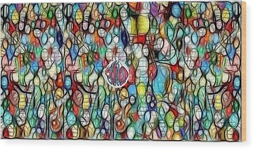 #1 Bubble Series Wood Print by George Curington