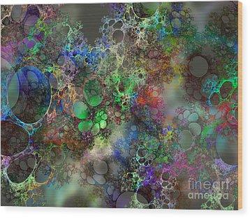 Bubbles Wood Print by Klara Acel