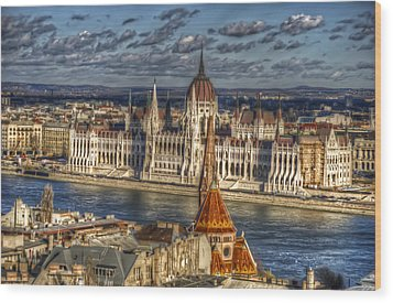 Buda Parliament  Wood Print by Nathan Wright
