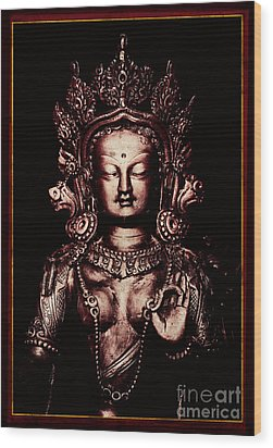 Buddhist Tara Deity Wood Print by Tim Gainey
