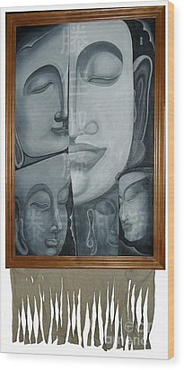 Buddish Facial Reactions Wood Print