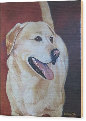 Wood Print featuring the painting Buddy by Sharon Schultz