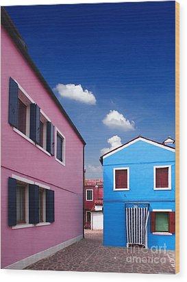 Burano 08 Wood Print by Giorgio Darrigo