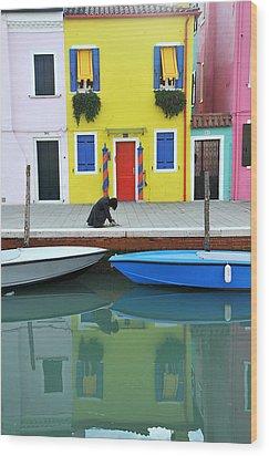 Burano Italy Wood Print