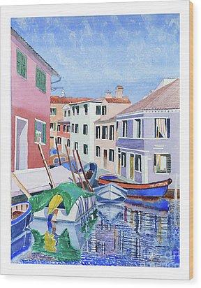 Burano Venice Wood Print