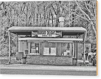 Burger Delight Wood Print by Scott Pellegrin