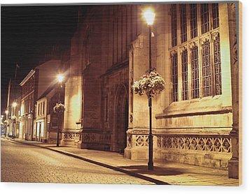 Bury St Edmunds Night Scene Wood Print by Tom Gowanlock